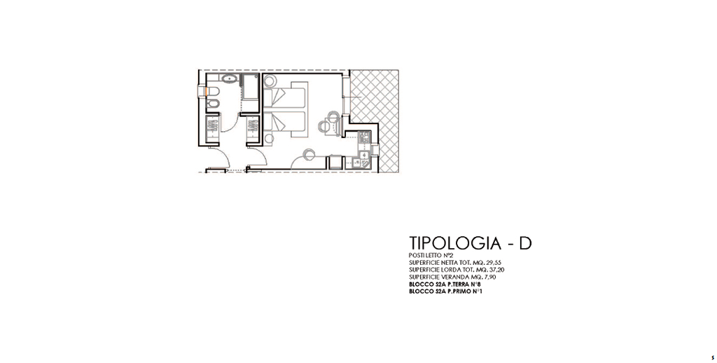 ZONA 2A, APPARTAMENTI TIPOLOGIA D