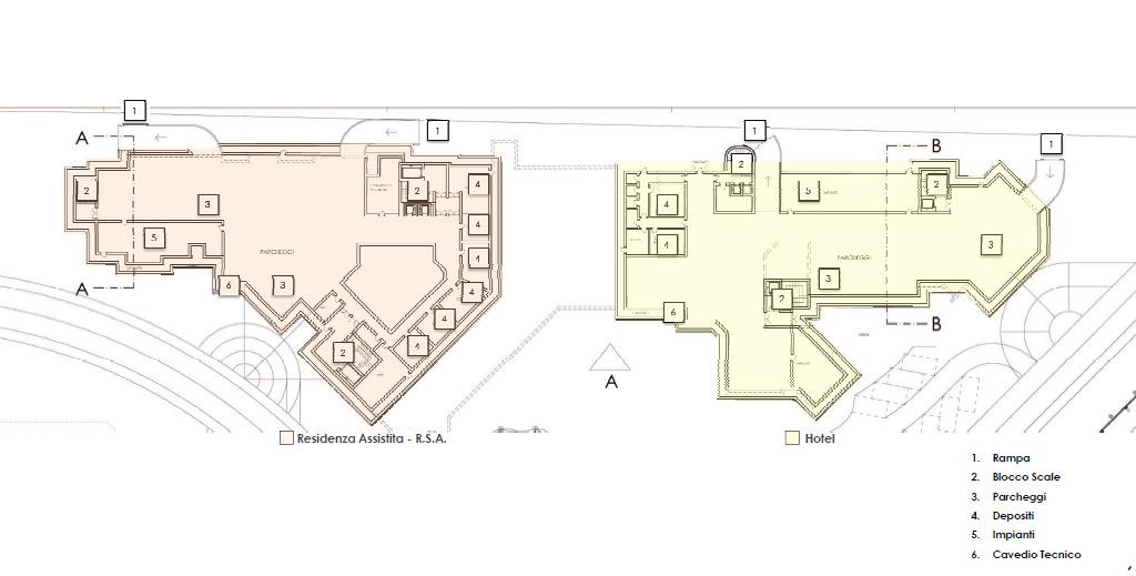 Hotel rsa sulcis iglesiente il progetto villaperuccio for Progettista del piano interrato
